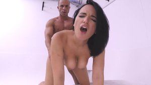 Ramming hard accompanied by famous latina model Johnny Castle