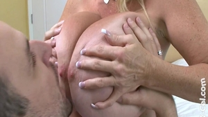 Busty & big boobs mature Kayla Kleevage finds dick to fuck