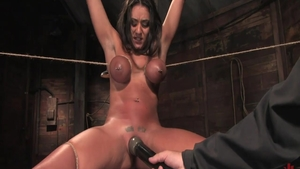 Big tits babe Charley Chase finds irresistible bondage