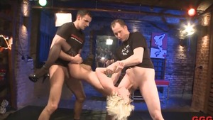 Group sex along with dirty german blonde