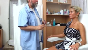 Very kinky gynecologist helps with hard nailining in HD