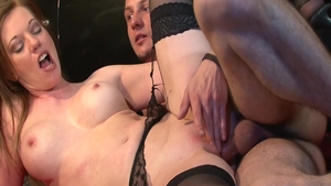 Holly Kiss pounding in a car