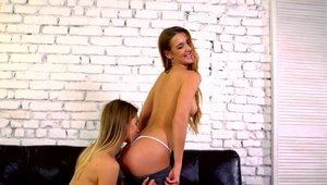 Raw fucking accompanied by hottest lesbo Alexis Crystal
