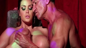 Tall and busty Alison Tyler getting facial