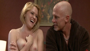 Big boobs blonde Krissy Lynn gonzo BDSM