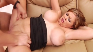 Big tits Katie Kox together with Katie Morgan gonzo cumshot