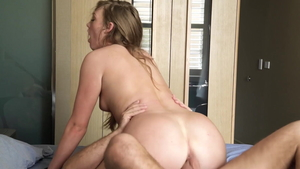 Puffy nipples & tight Ashley Red pussy fucking