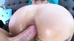Big tits redhead feels the need for hard sex