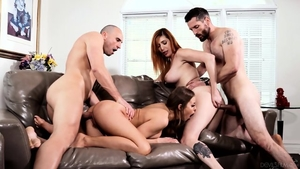 Big tits horny mature rough threesome