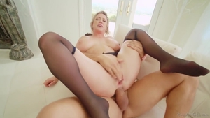 Nailed rough together with big boobs blonde Dee Williams
