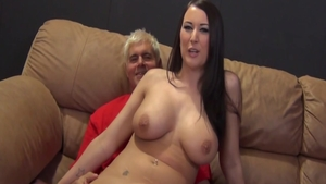 Big tits friend Alexis Grace rough cum in her pussy