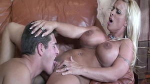 Erotic and busty Holly Halston cock sucking