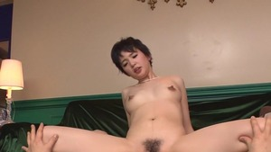 Japanese chick Sakura Aida uncensored cock sucking