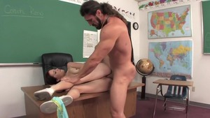 College student really enjoys hard pounding