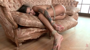 Domination roped amongst Bonnie Rotten