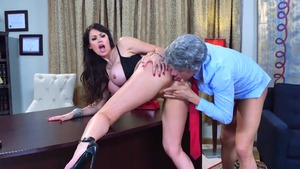 Hard sex accompanied by busty mature Eva Karera