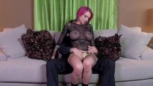 Hard hard pounding with busty redhead