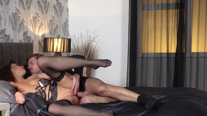 Ryan Ryder in lingerie and Tina Kay pussy eating