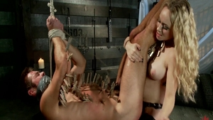 Aiden Starr tied up