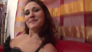Doggy fucks in the company of french brunette Jessie Douglas