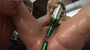 Sex with toys with big tits blonde