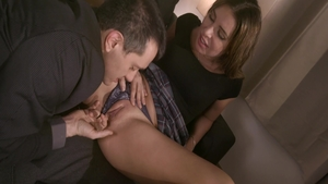Ally Breelsen pussy fucking on the couch