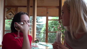 Nailing together with european teen chick