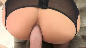Big tits and very nice blonde Mike Adriano POV anal gaping