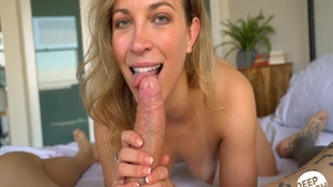 Blonde Lily Love sucking dick