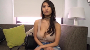 Tits fucking at the casting asian