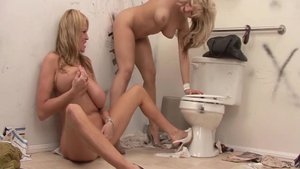 Big tits blonde raw gloryhole in toilet