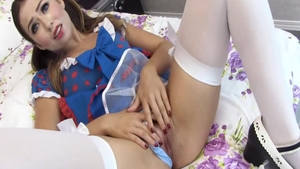 Cosplay real fucking accompanied by hottest maid Melissa Moore