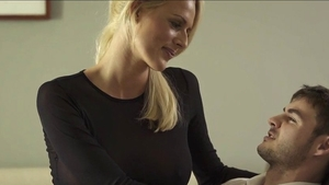 Rough nailing in company with wet pussy blonde