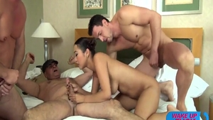 Rough sex together with young asian slut Sharon Lee