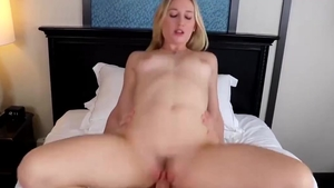 Hard rough sex next to small tits blonde Riley Reynolds
