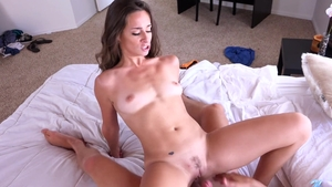 Sex scene together with petite brunette Cassidy Klein