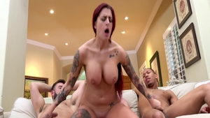 Big boobs & too cute MILF Lea Lexis hard gangbang
