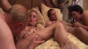Homemade group sex starring shaved stepmom Sophie Dee