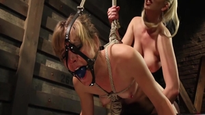 Small tits lesbians Mona Wales feels up to pussy fucking
