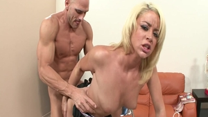 Mature Johnny Sins in a suit handjob