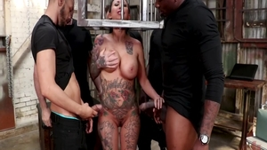 Tattooed babe Lily Lane has a thing for hard slamming
