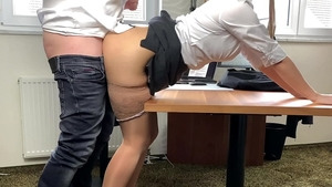 Big ass mature creampied in office