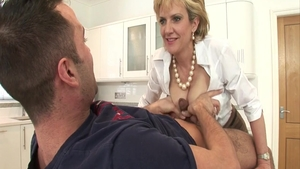Big tits mature Lady Sonia gets a buzz out of loud sex