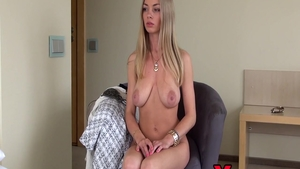Young & big tits Lolly Gartner pussy fuck at castings