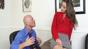 Big tits Dani Daniels creampied and Johnny Sins in office