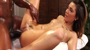 Massage sex tape between young rough Jaye Summers
