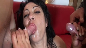 Raw good fucking in the company of big tits cougar
