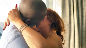 Ramming hard in company with hairy african escort Janet Mason