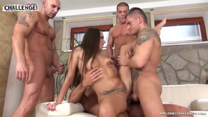 Sex scene amongst tattooed brunette Mea Melone in HD