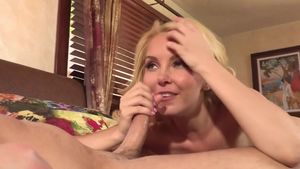 Young & small tits stepmom Seth Gamble goes wild on cock